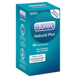 Durex natural plus  24 pz