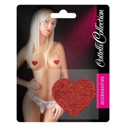 Copricapezzoli cuore rosso