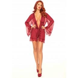 Vestaglia rossa trasparente...