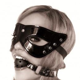 Maschera in pelle con gag ball