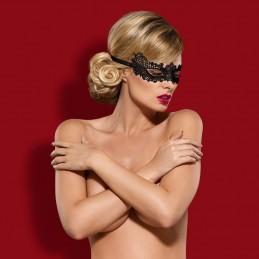 Maschera nera seducente