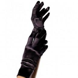 Guanti neri corti e elastici